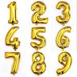 Ballon Aluminiumfolie Zahlen  1, 2 und 3