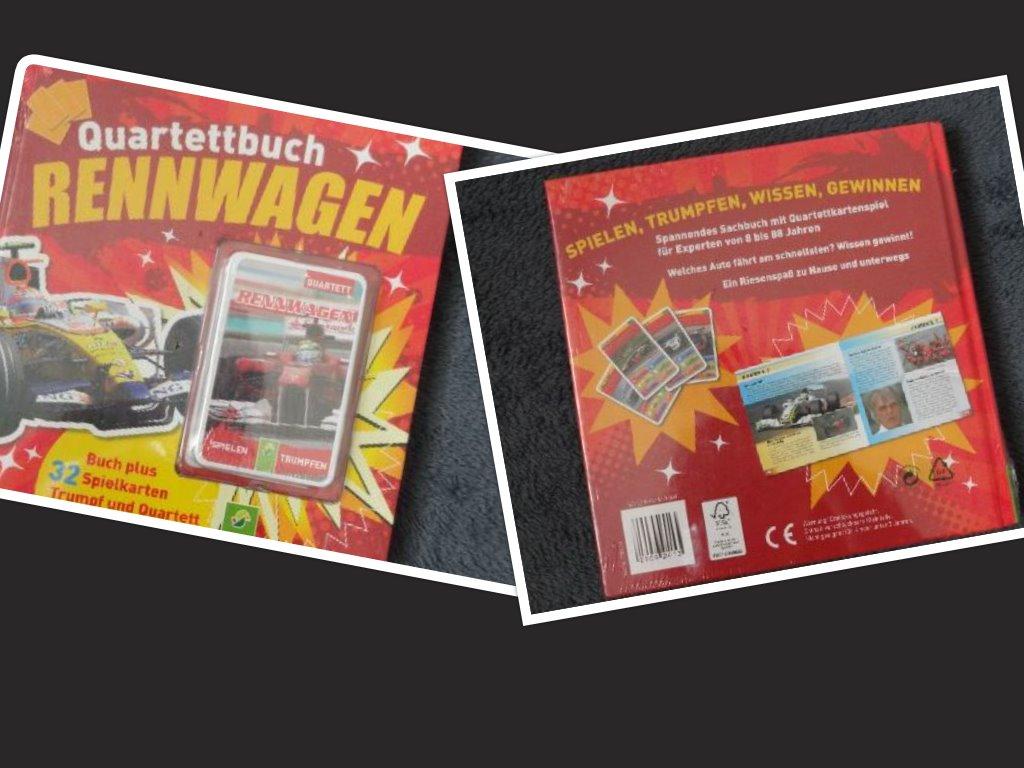 Neues Quartettbuch Rennwagen ab 8 Jahre