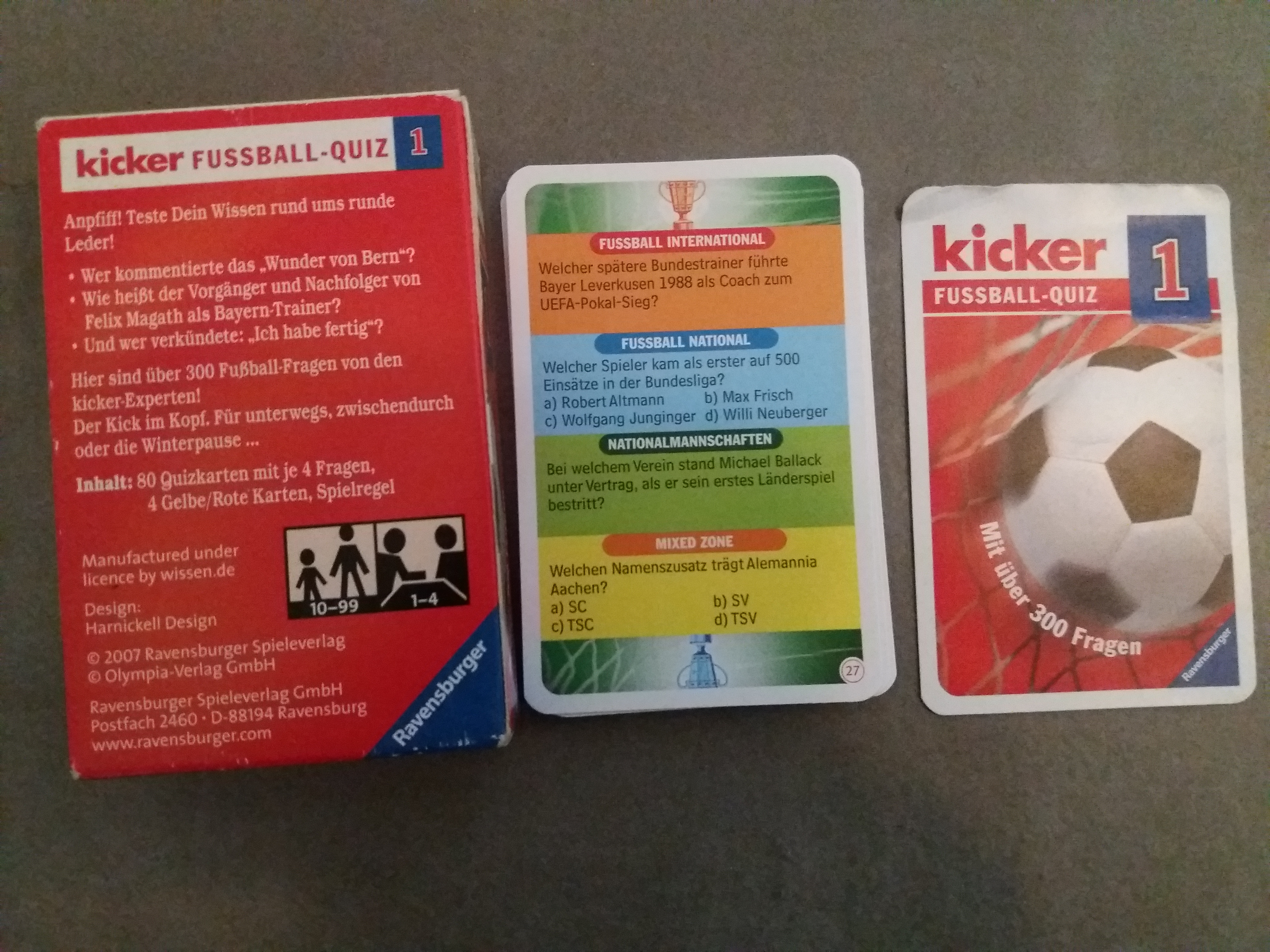 Kartenspiel Kicker Fussball Quiz