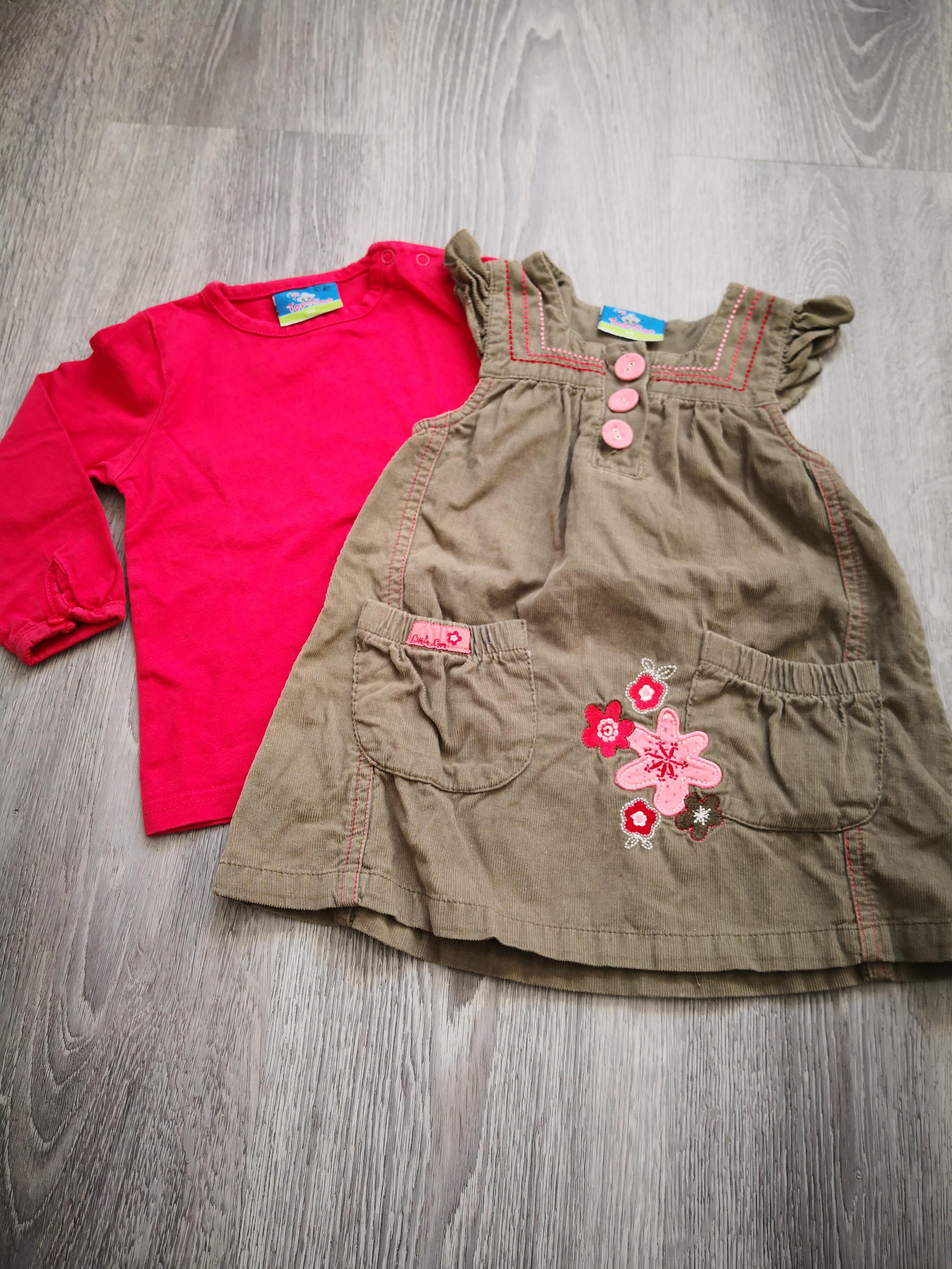 Kleid und Langarmshirt Gr. 80